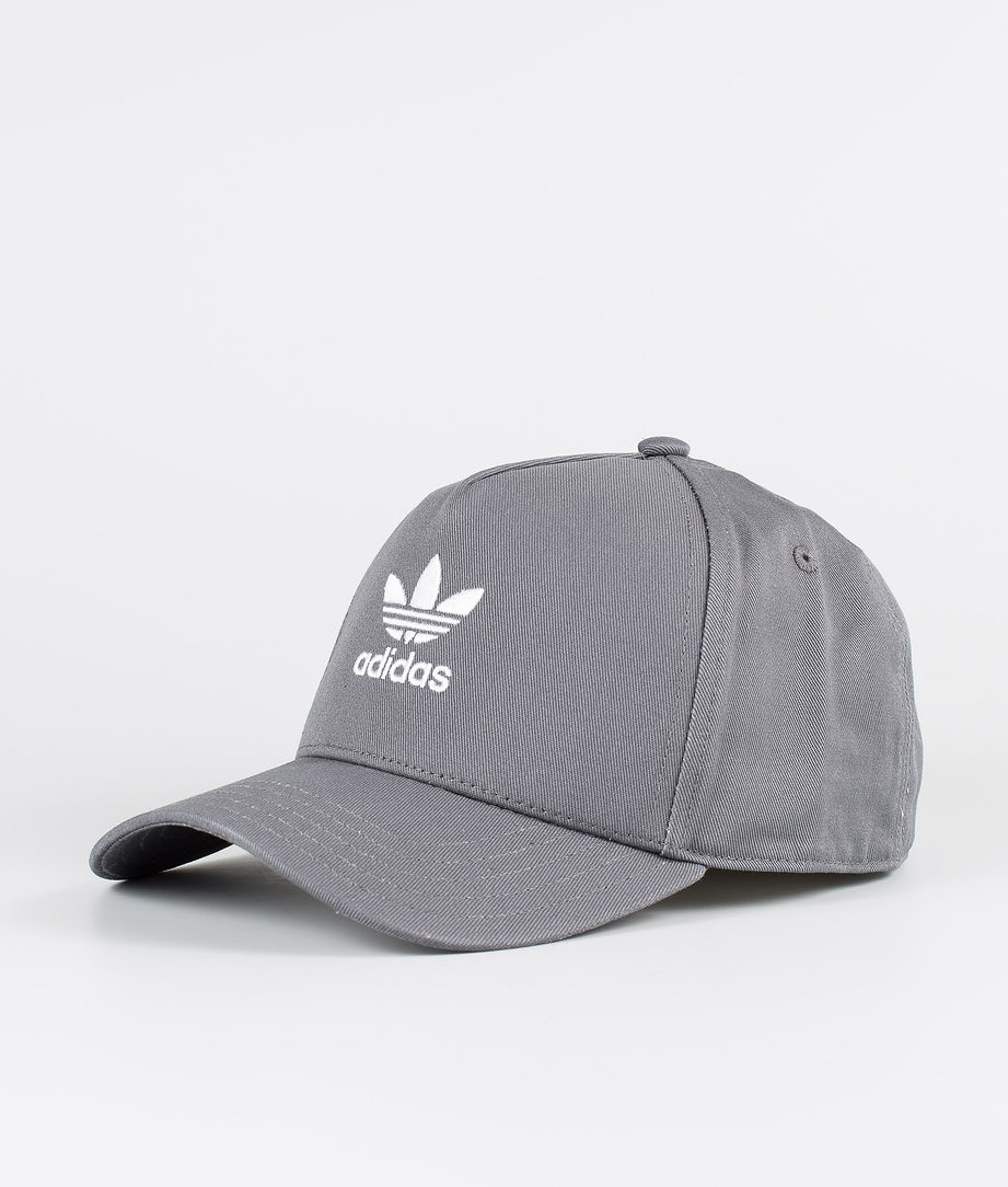Adidas Originals Adicolor Closed Trucker Curved Cap Grey Five