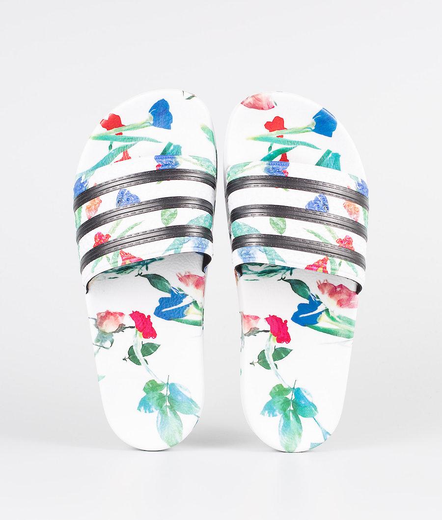Adidas Originals Adilette W Schuhe Footwear White/Core Black/Footwear White