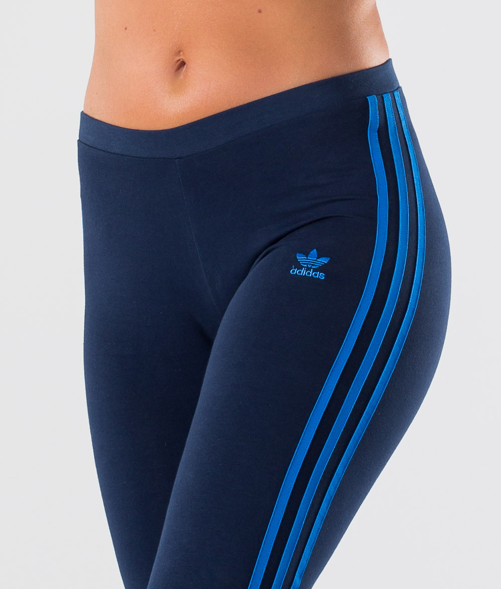 Adidas Originals 3 Stripes Leggings Collegiate NavyBluebird