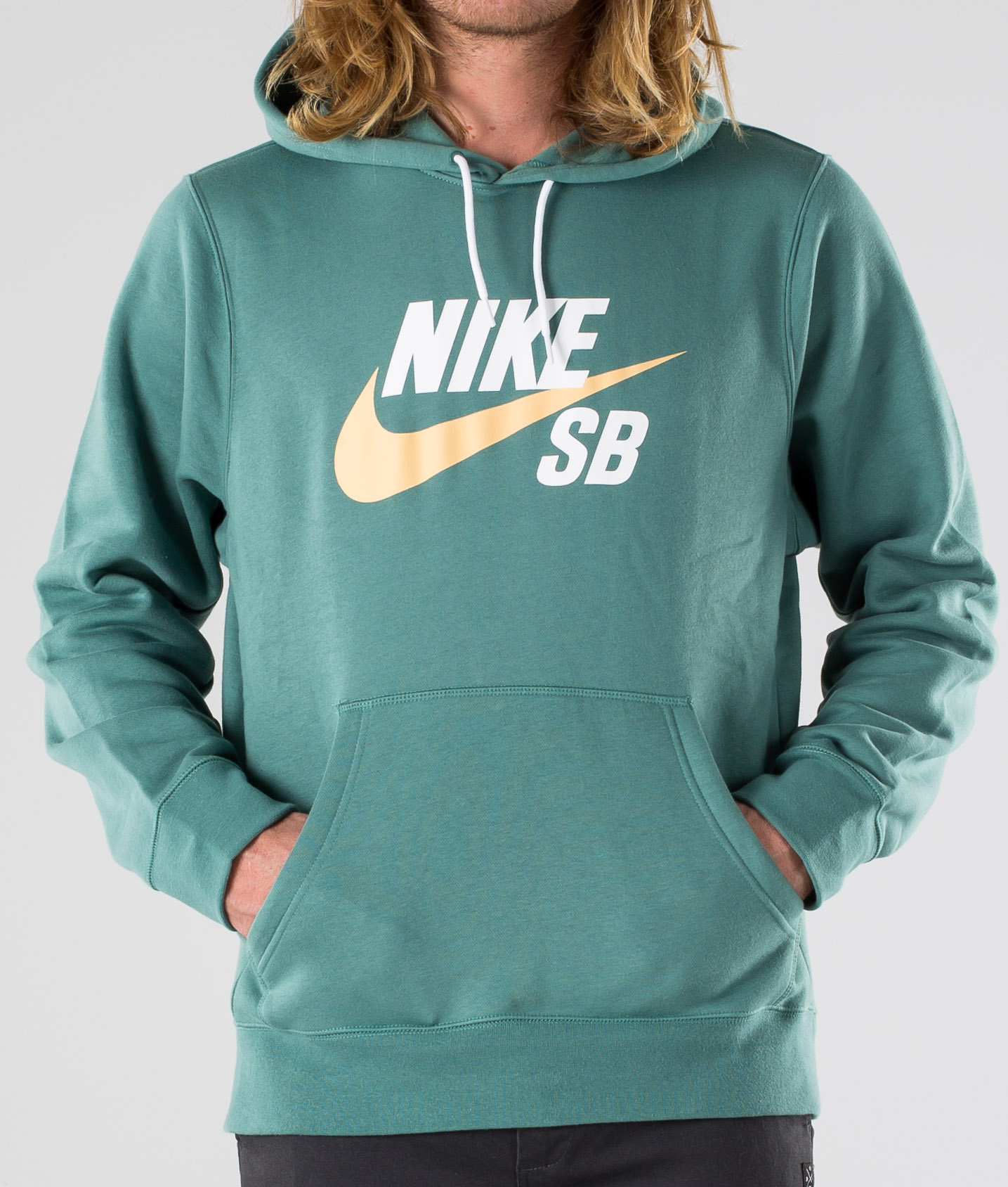 Nike SB Icon Hoodie Po Essnl Hoodie BicoastalCelestial Gold