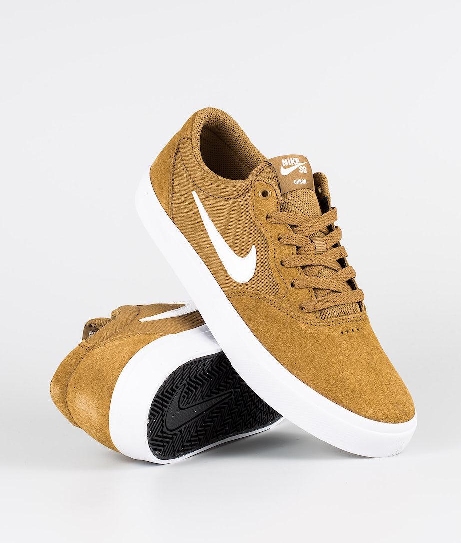Nike SB Chron SLR Sko Golden Beige/White-Golden Beige-Black