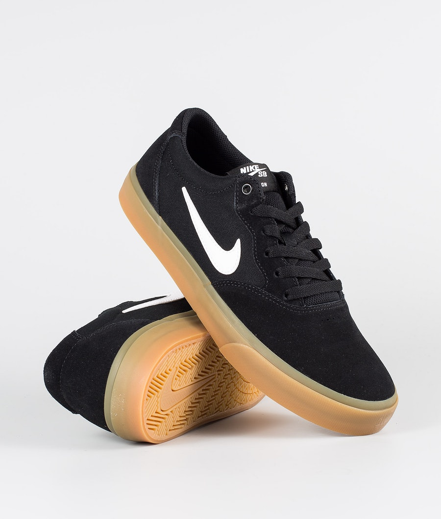 Nike SB Chron SLR Shoes Black/White-Black-Black