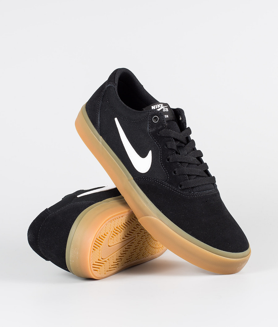 Nike SB Chron SLR Shoes Black/White-Black-Black
