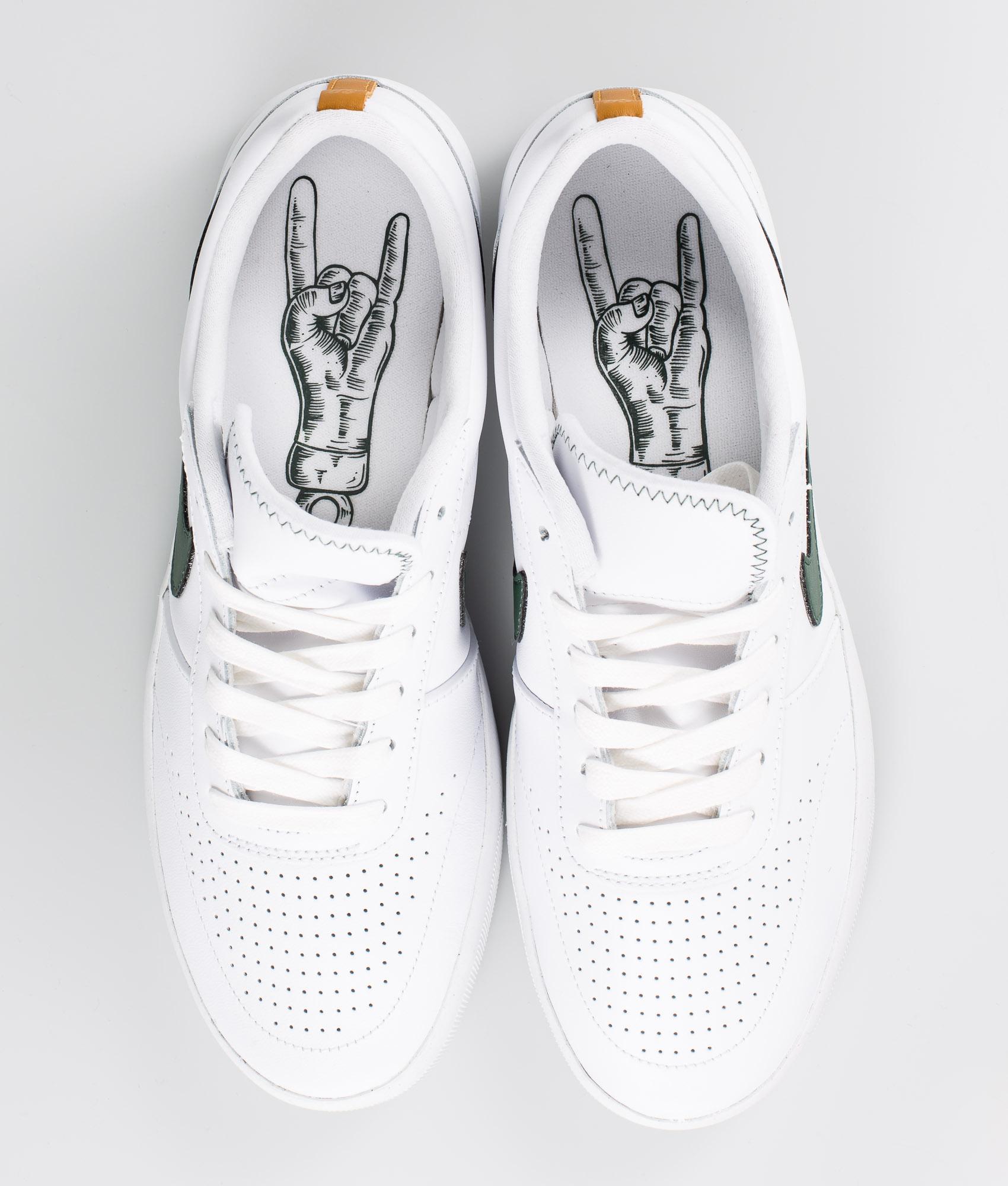 social cascada celos  Nike SB Team Classic Prm Shoes WhiteGalactic Jade Desert Ochre White