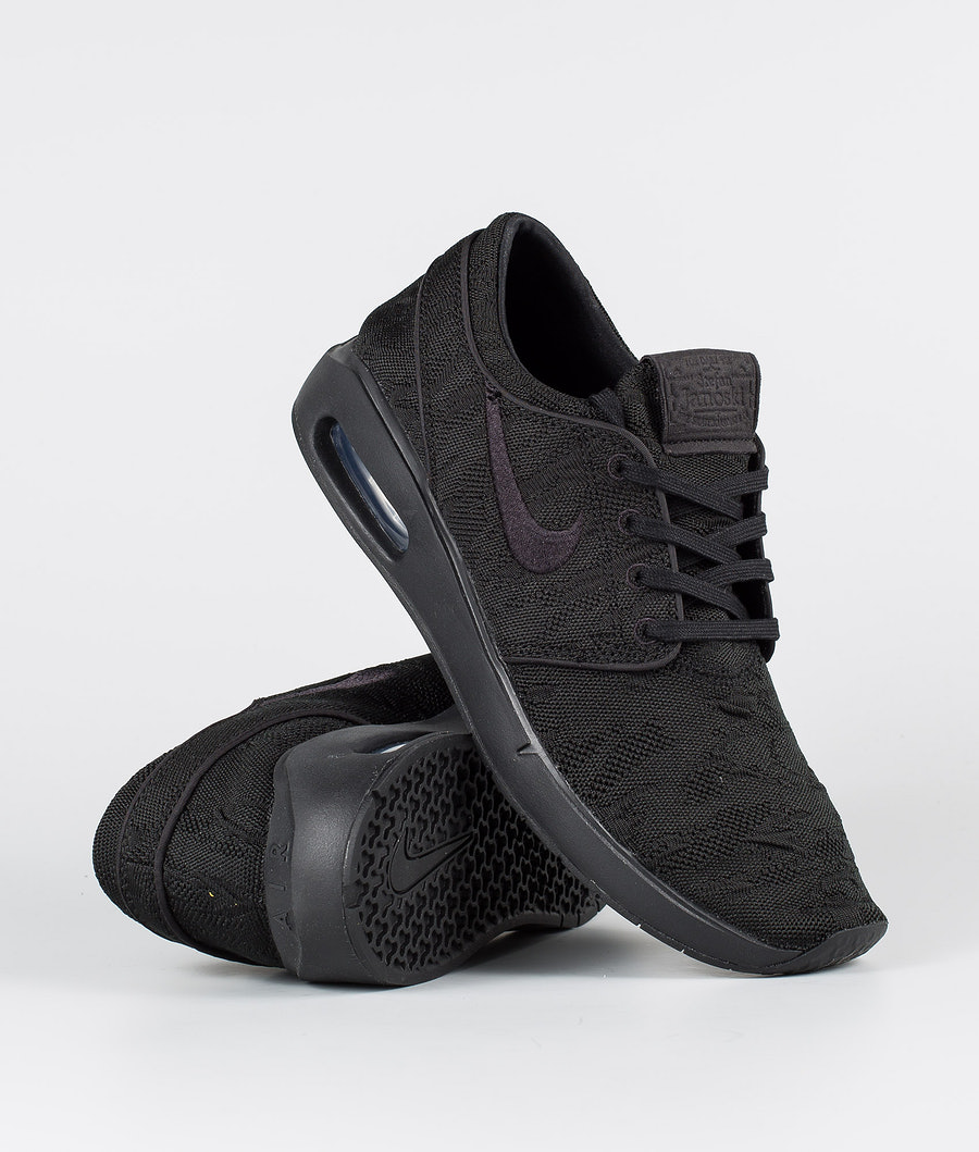 Nike SB Air Max Janoski 2 Shoes Black/Black-Black-Black