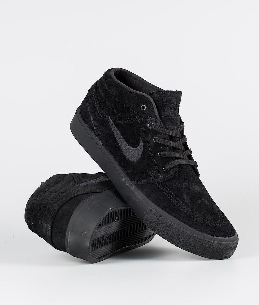 Nike SB Zoom Janoski Mid Rm Schuhe Black/Black-Black-Black