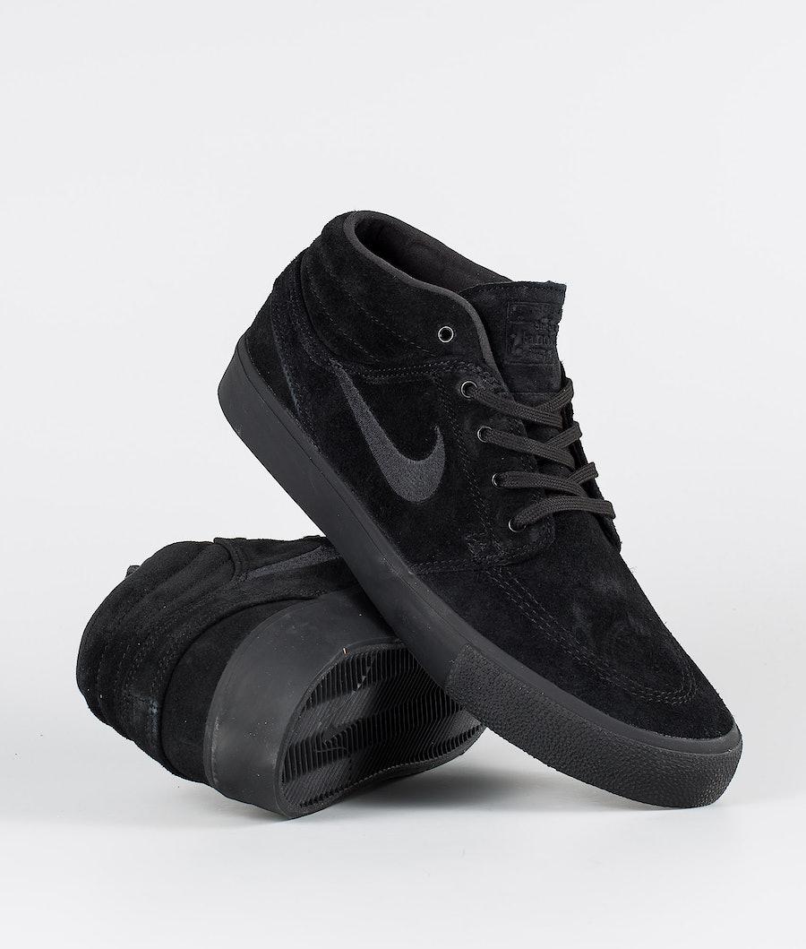 Nike SB Zoom Janoski Mid Rm Sko Black/Black-Black-Black