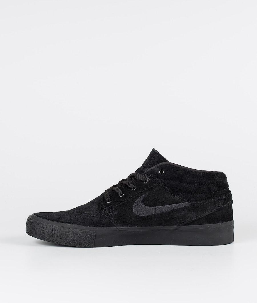 Nike SB Zoom Janoski Mid Rm Skor Black/Black-Black-Black