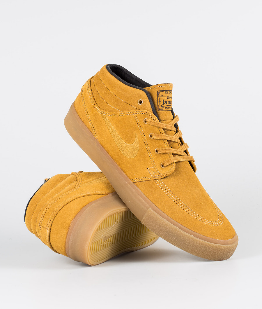 Nike SB Zoom Janoski Mid Rm Shoes Wheat/Wheat-Black-Gum Light Brown