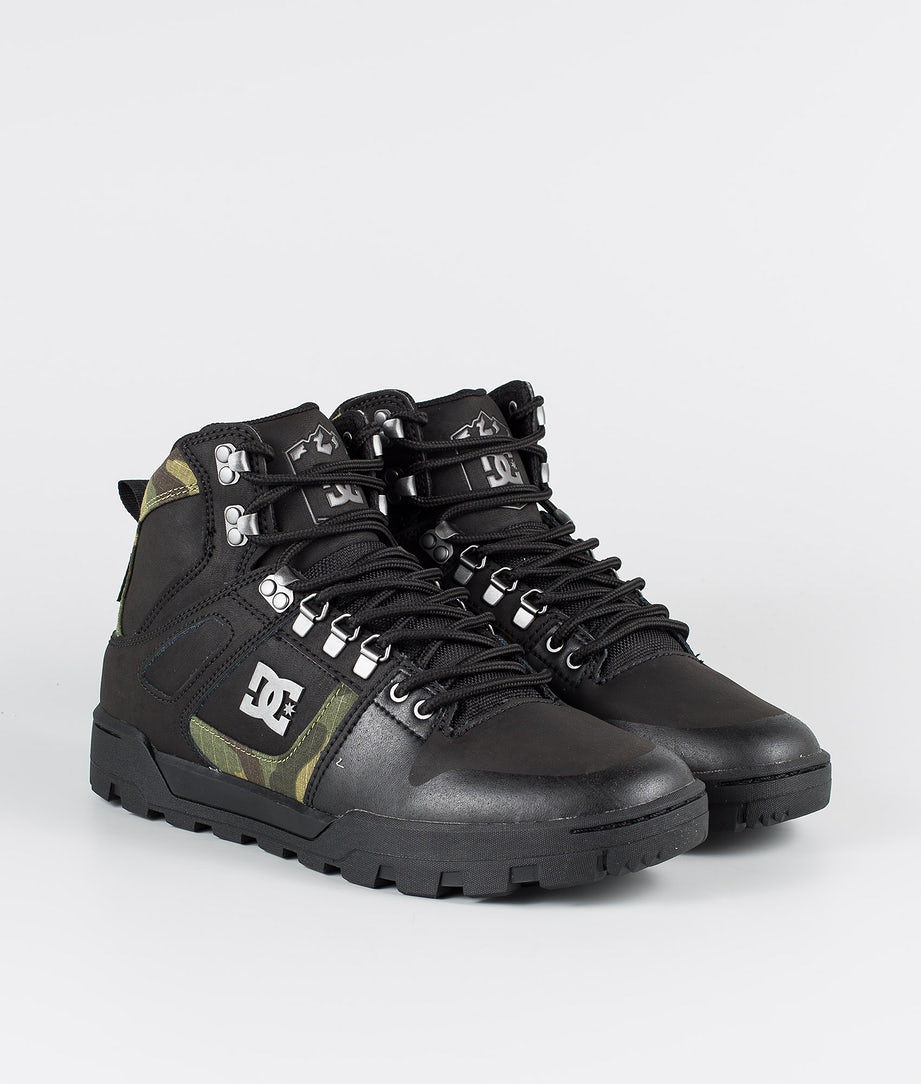 DC Pure High-Top Wr Boot Shoes Black/Camo