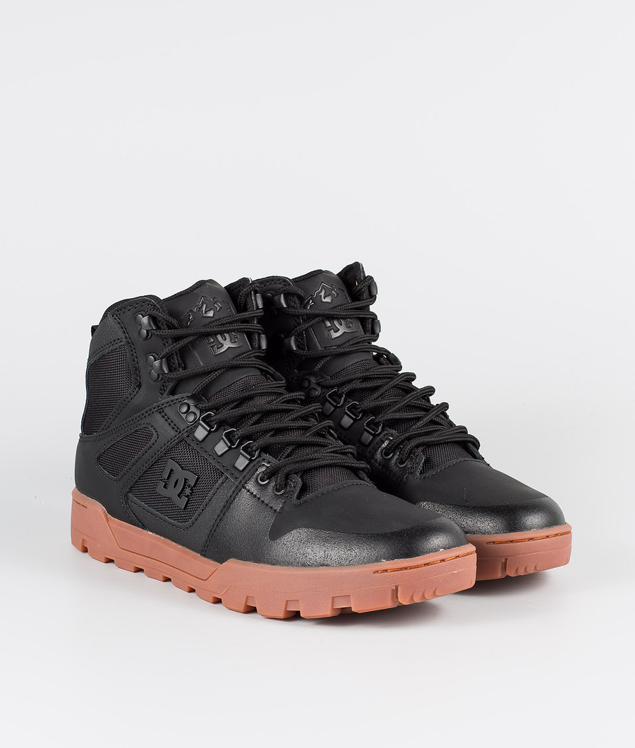DC Pure High-Top Wr Boot Shoes Black/Gum