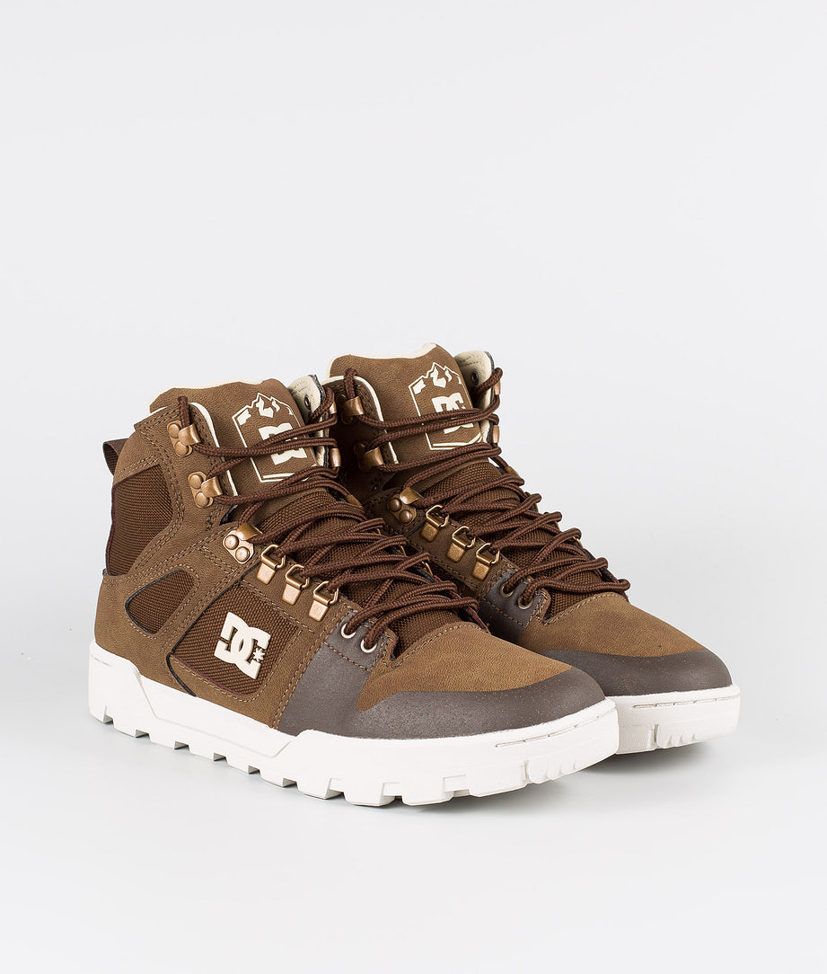 DC Pure High-Top Wr Boot Skor Brown