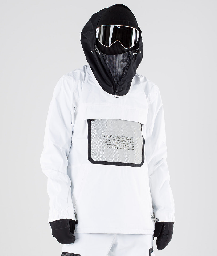 DC Asap Anorak Snowboard Jacket White