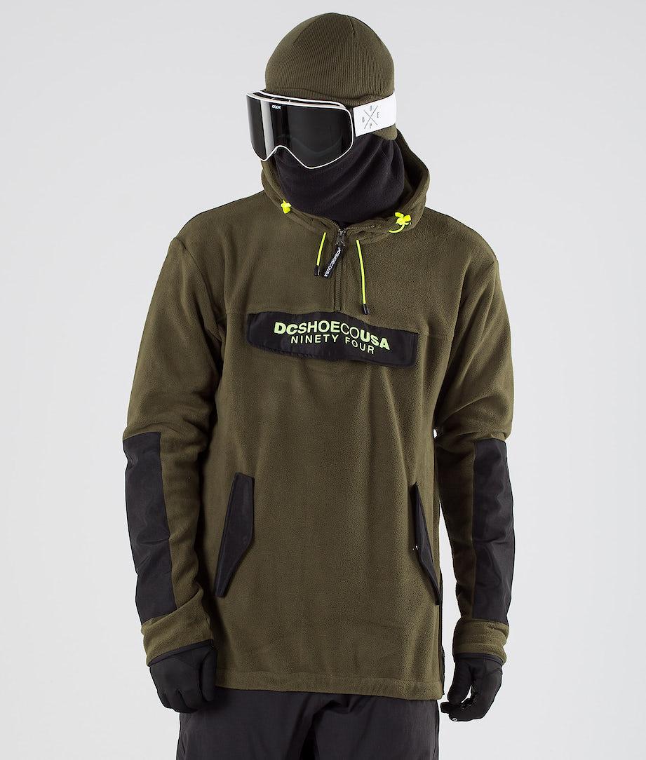 DC Tagans Hood Snowboard Jacket Fatigue Green