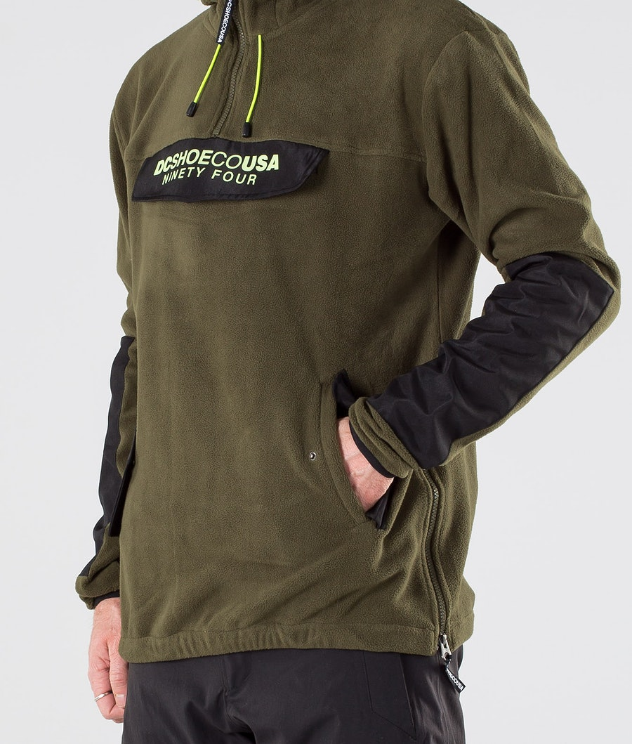 DC Tagans Hood Snowboard Jacket Fatigue Green