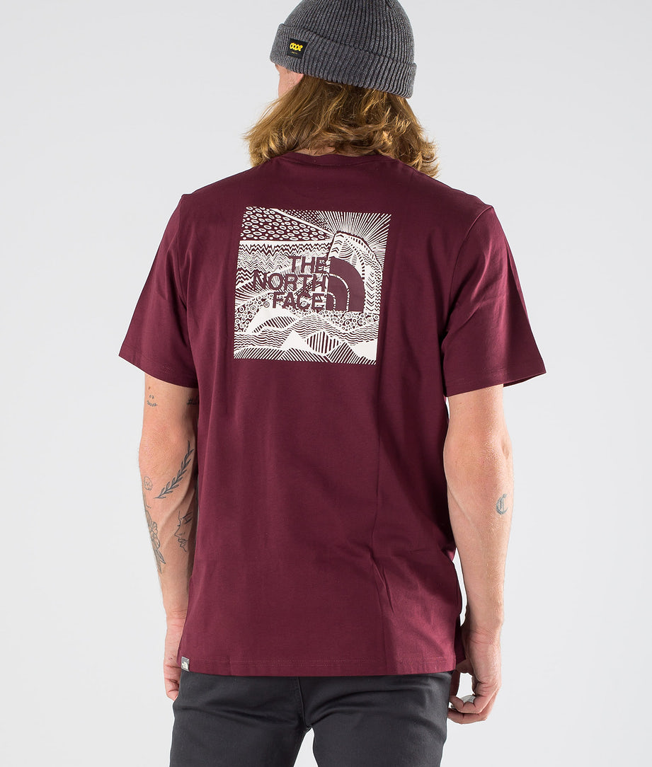 The North Face Redbox Cel T-paita Deep Garnet Red