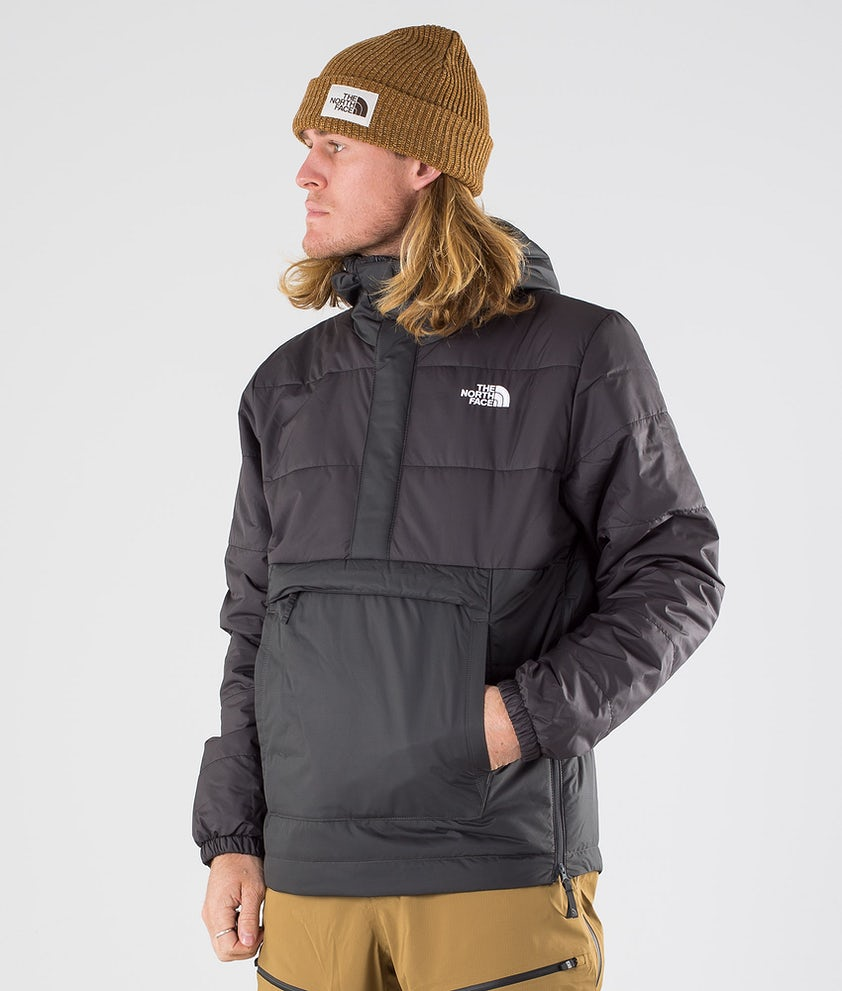 The North Face Insulated Fanorak Snowboard Jacket Asphalt Grey/Tnf Black