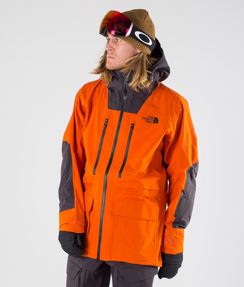 The North Face A-Cad Futurelight Snowboardjakke Papaya Orange/Weathrd Blk