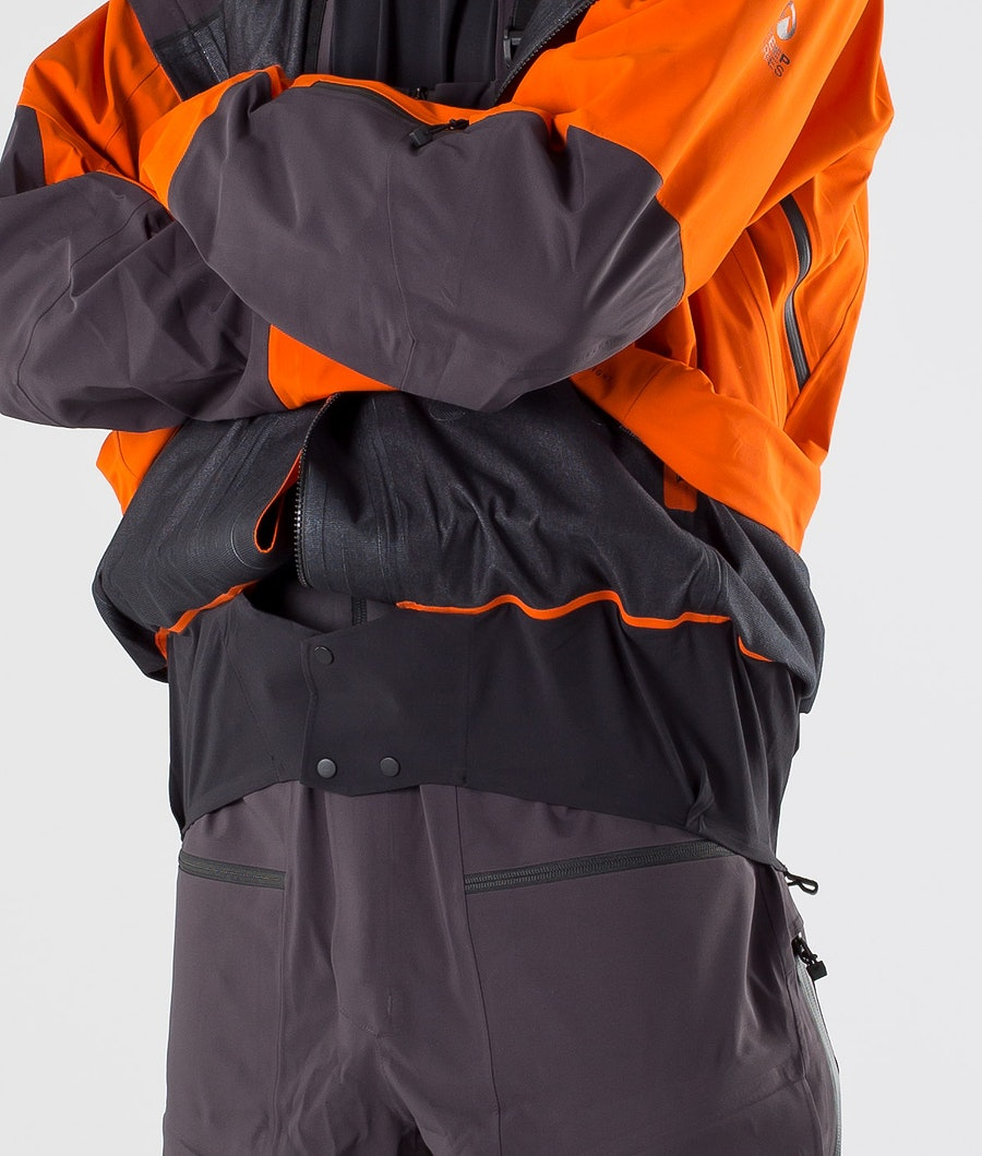 The North Face A-Cad Futurelight Snowboard Jacket Papaya Orange/Weathrd Blk