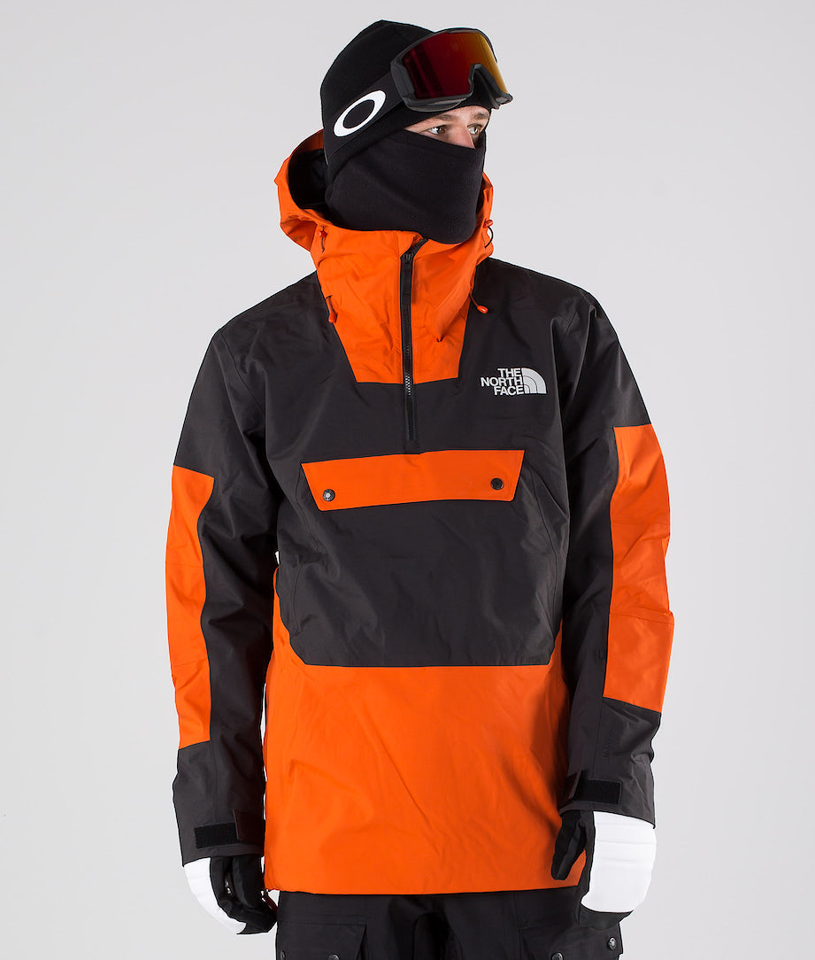 The North Face Silvani Anorak Lumilautailutakki Papaya Orange/Tnf Black