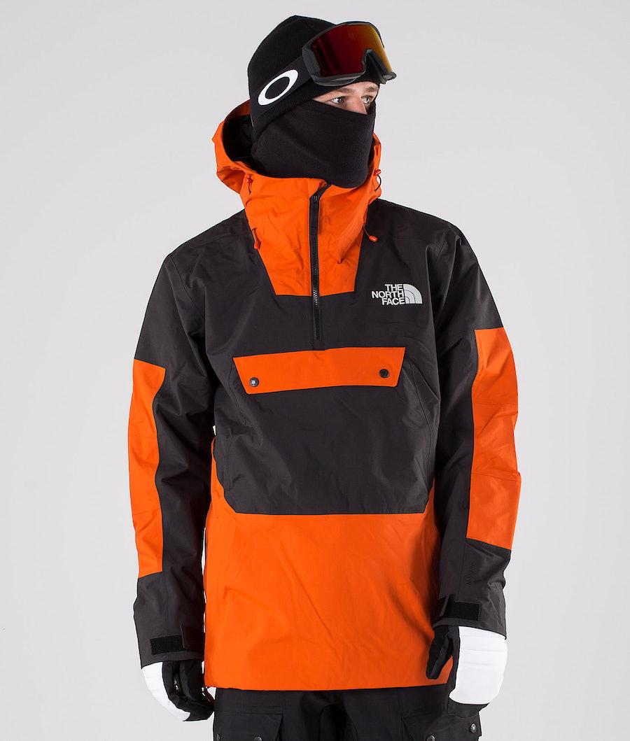 The North Face Silvani Anorak Snowboardjacke Papaya Orange/Tnf Black