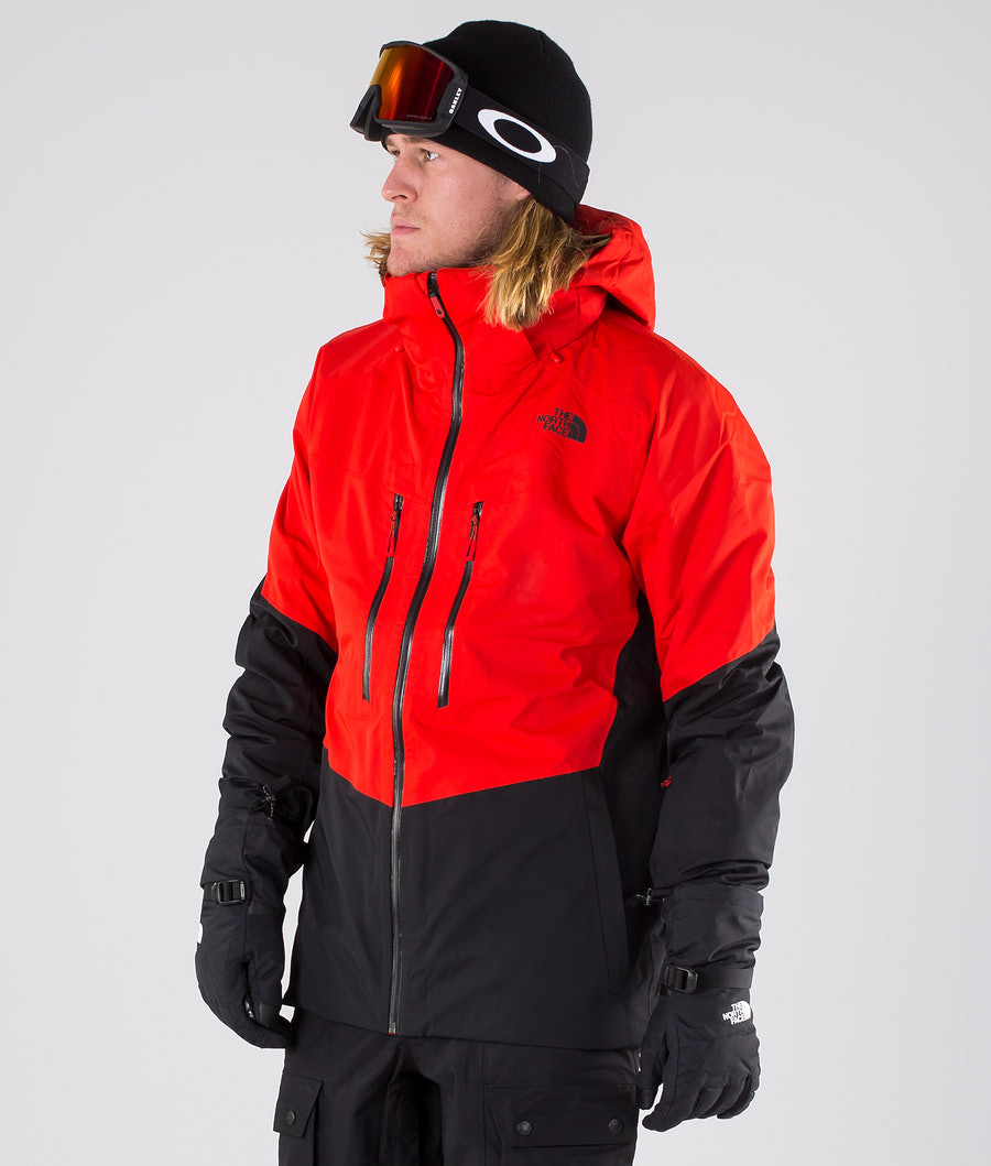 The North Face Chakal Snowboardjacke Fiery Red/Black