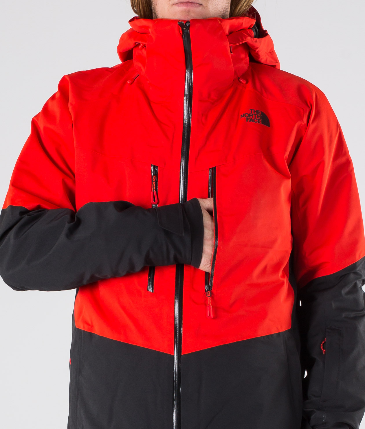 The North Face Chakal Snowboardjakke Fiery RedBlack