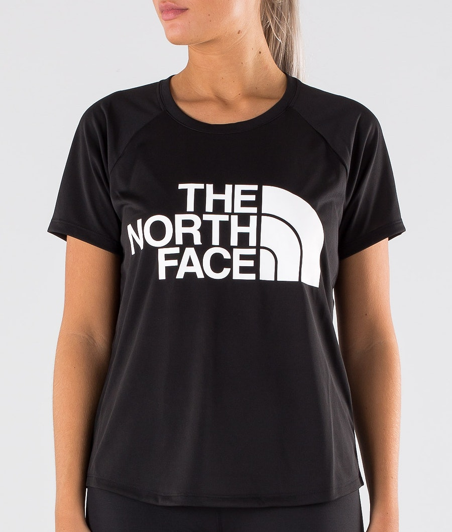 The North Face Grap Play Hard S/S T-shirt Dam Tnf Black/Tnf White