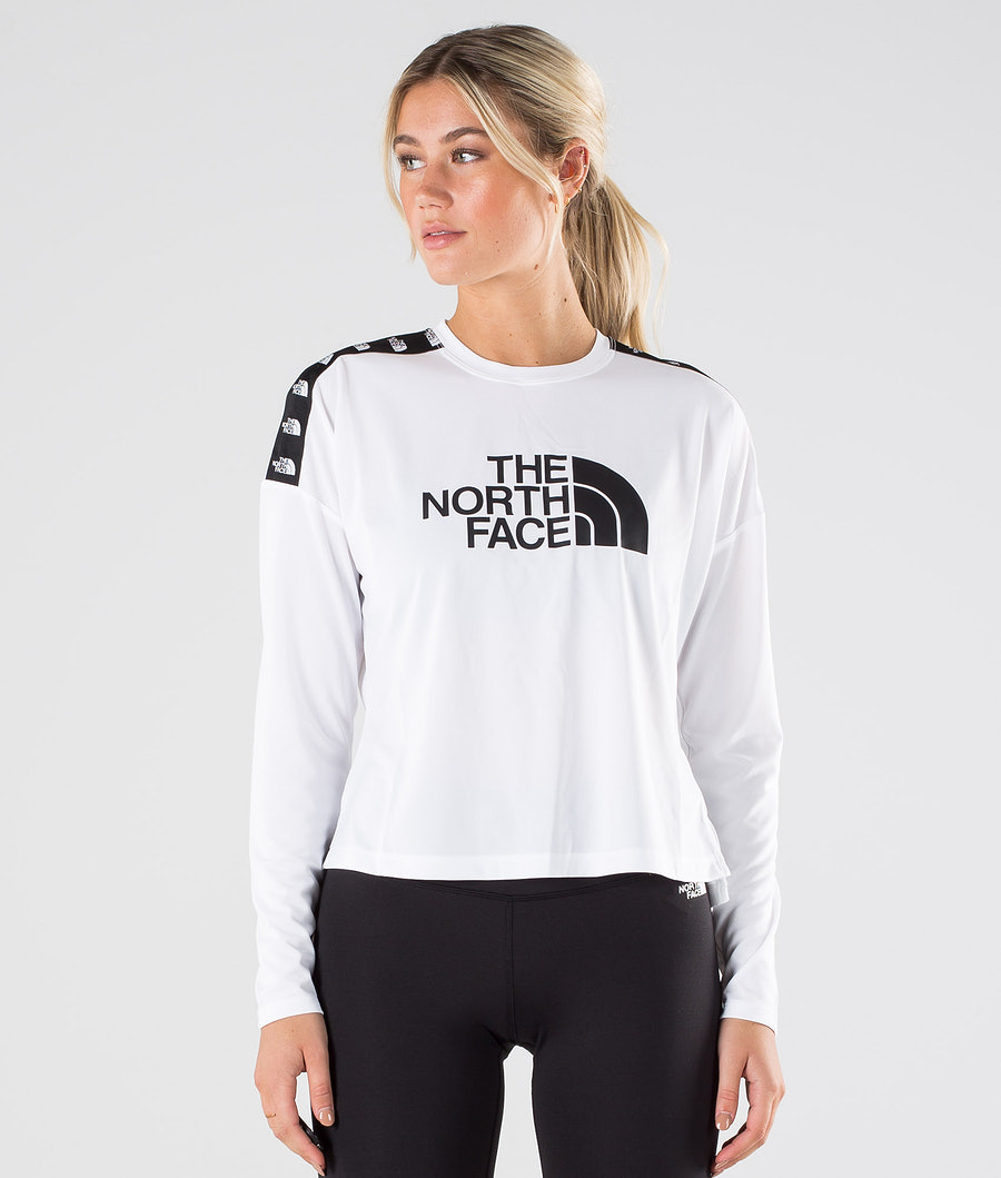 The North Face Tnl Crop L/S Pitkähihainen Tnf White