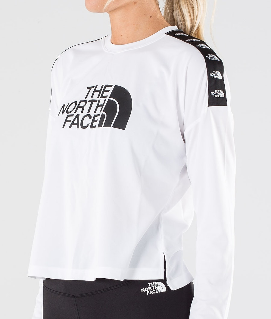 The North Face Tnl Crop L/S Tröja Dam Tnf White