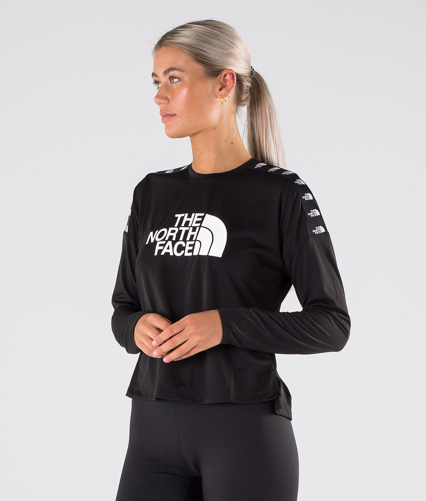 The North Face Tnl Crop L/S Gensere Tnf Black