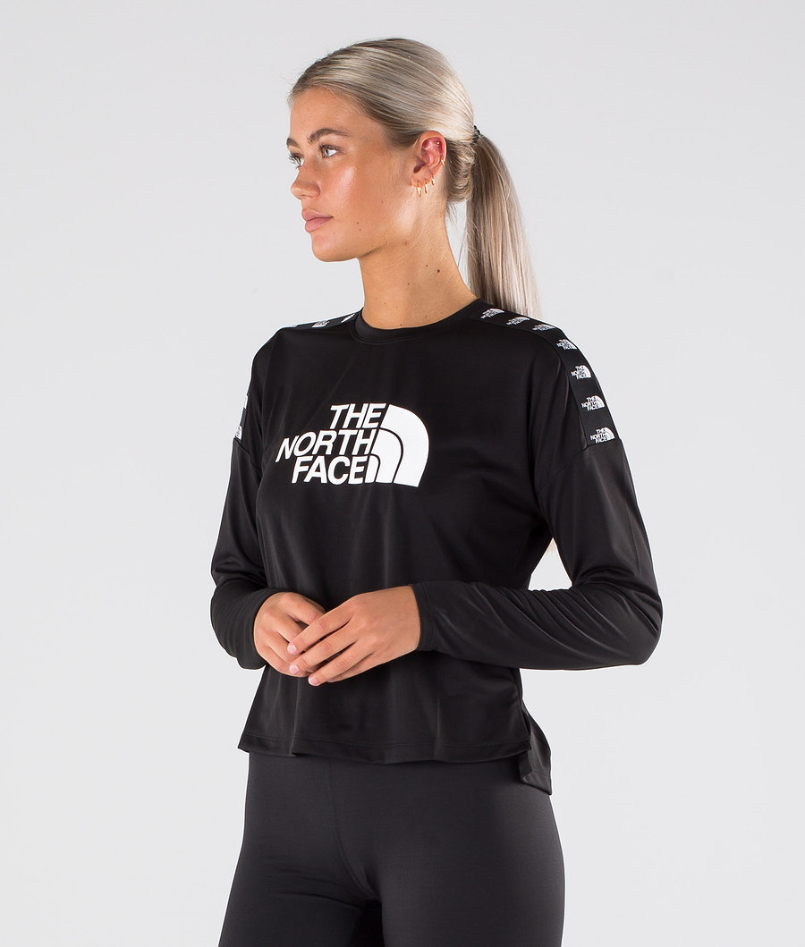 The North Face Tnl Crop L/S Sweater Tnf Black