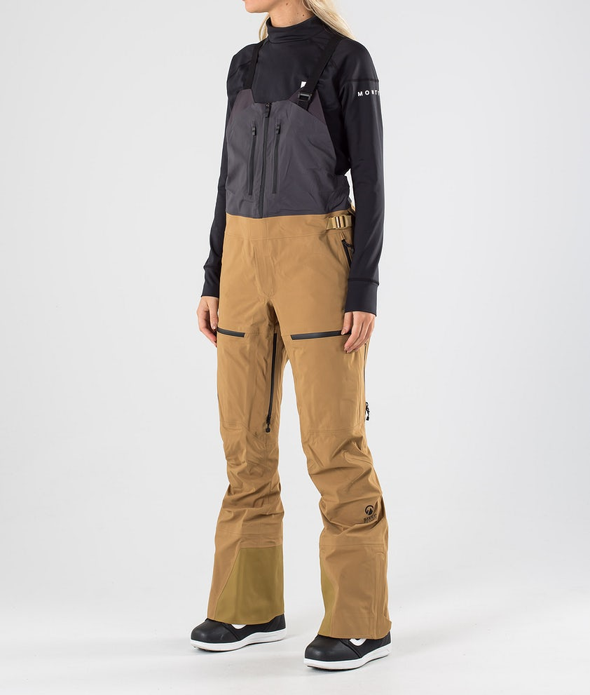 The North Face A-Cad Futurelight Bib Pantaloni da Snowboard British Khaki/Weathrd Blk
