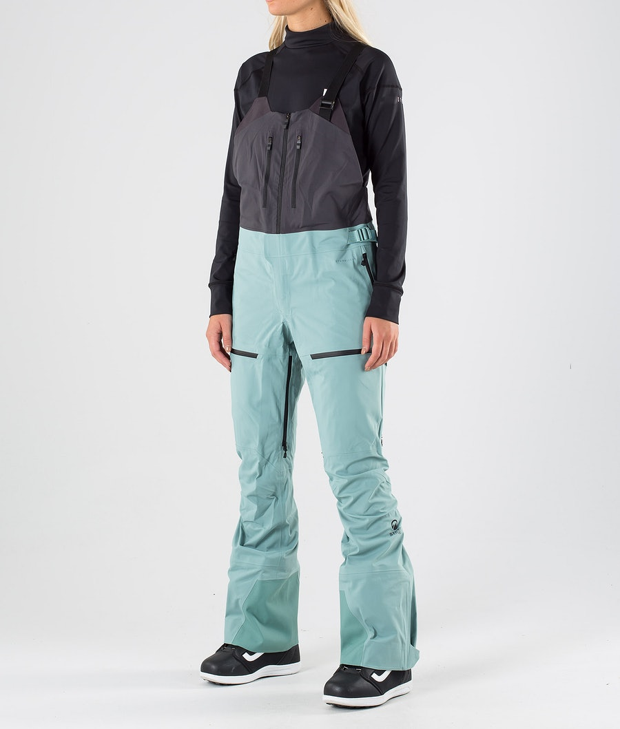 The North Face A-Cad Futurelight Bib Snow Pants Trellis Green/Weathrd Black