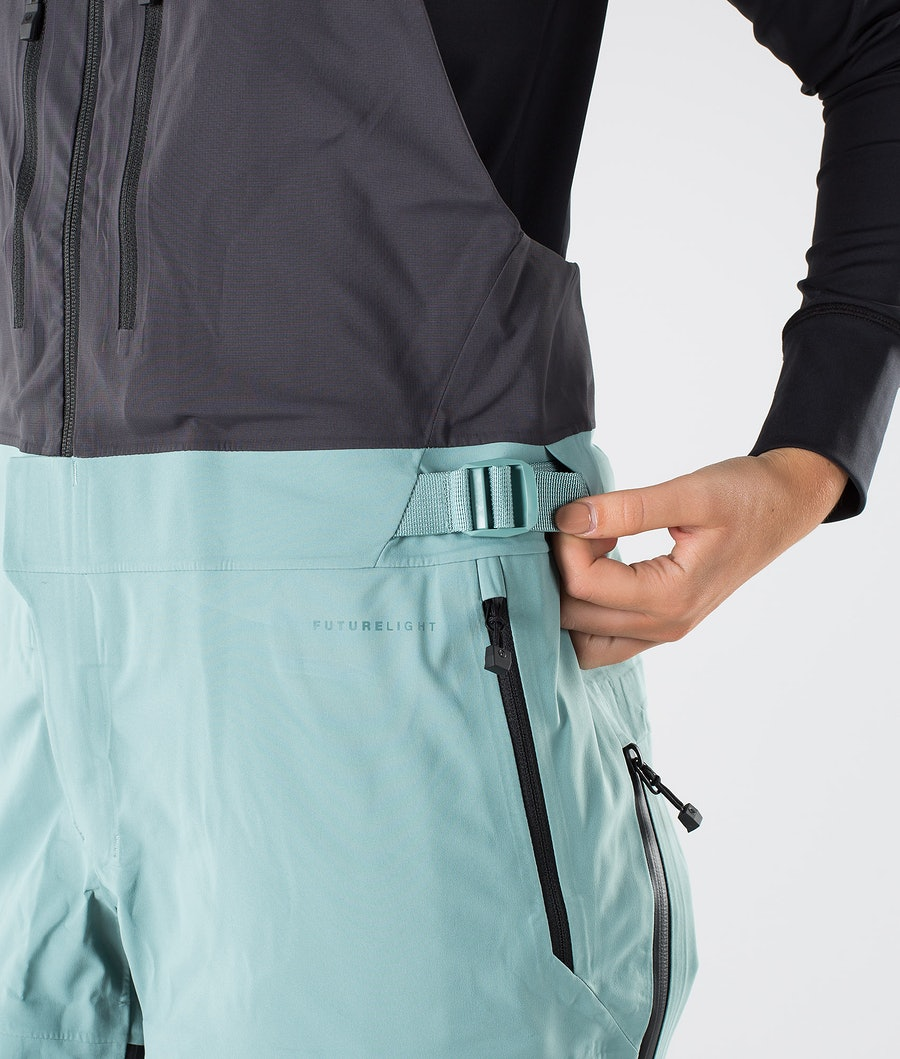 The North Face A-Cad Futurelight Bib Snowboardhose Damen Trellis Green/Weathrd Black