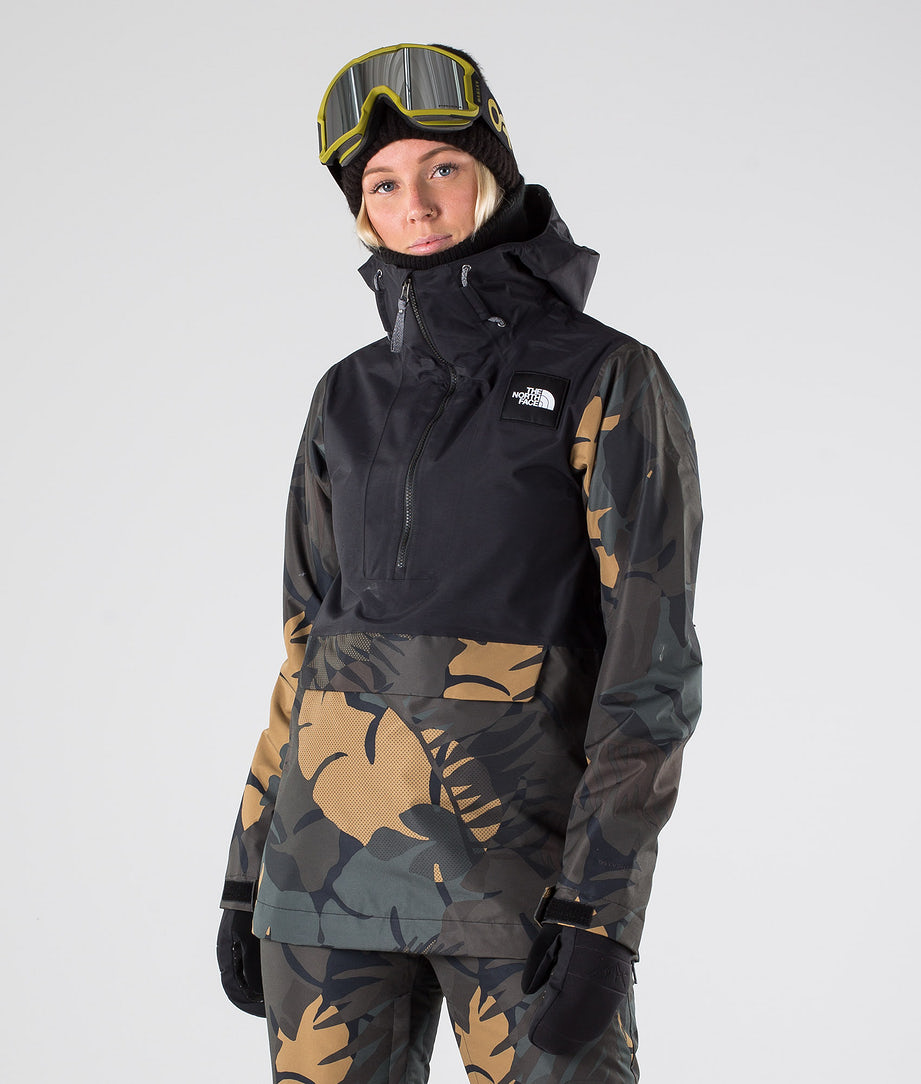 The North Face Tanager Snowboardjakke Tnf Black/Newtaupgrnpalmsprt