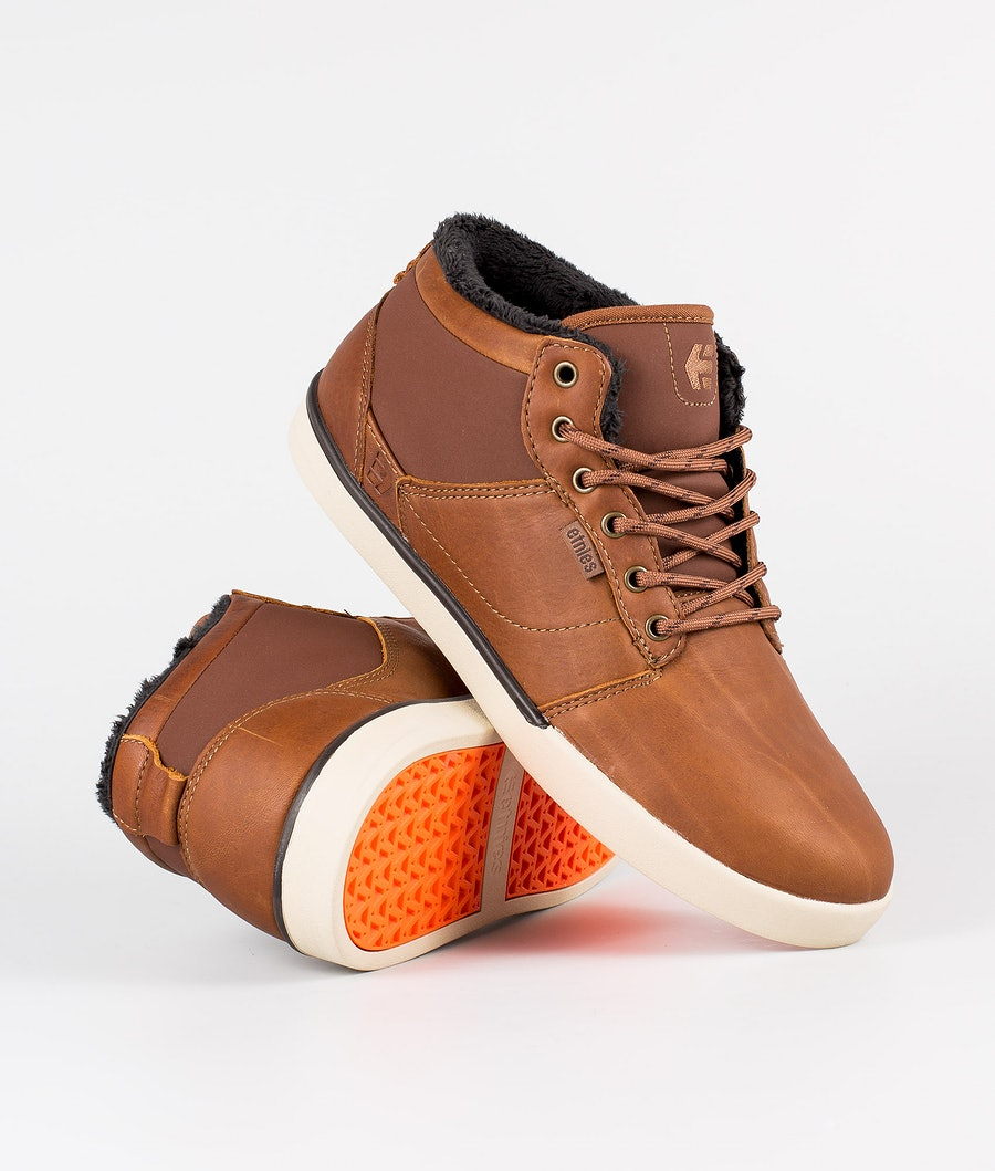 Etnies Jefferson Mid Skor Tan/Brown/Orange