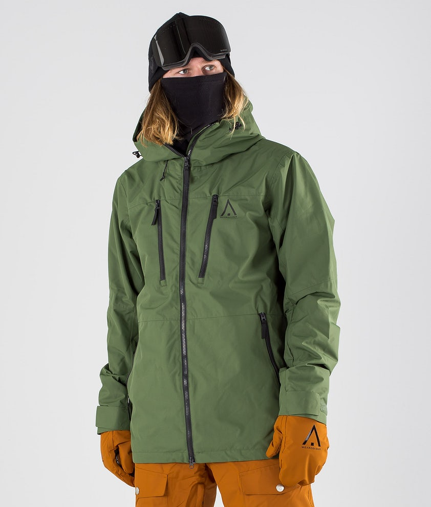 WearColour Grid Snowboard Jacket Olive