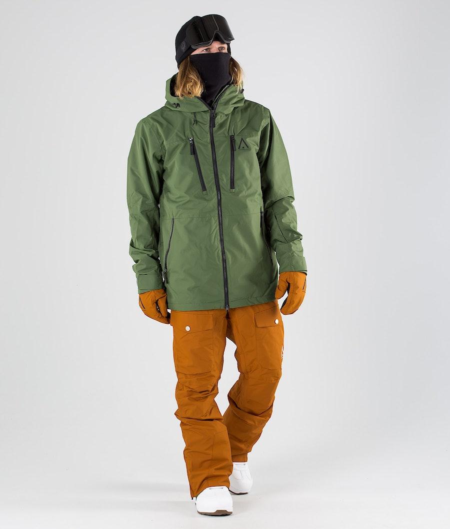 WearColour Grid Snowboardjacka Olive