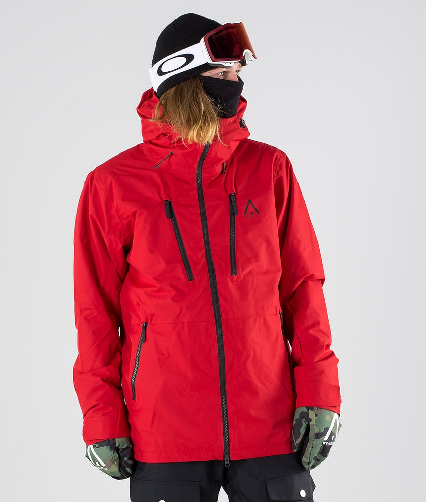 WearColour Grid Snowboard Jacket Falu Red