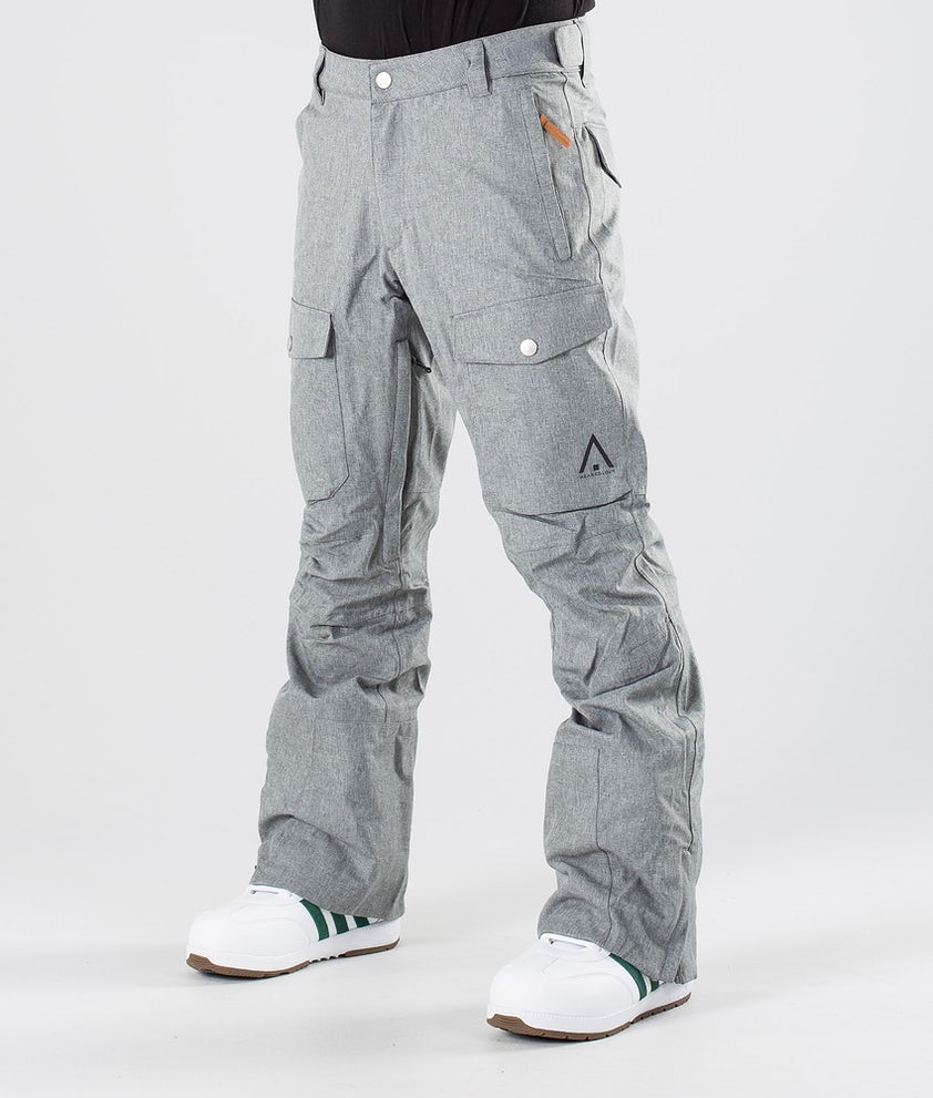 WearColour Shadow Snowboardbyxa Grey Melange