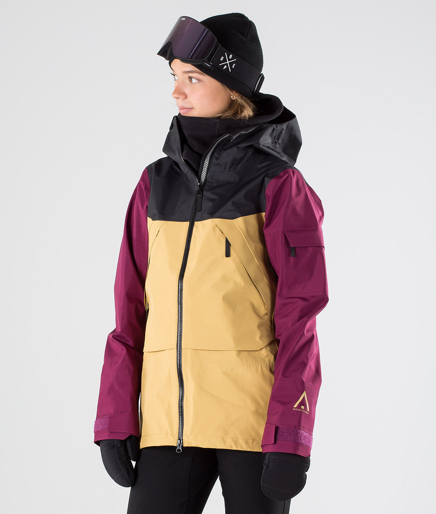 WearColour Owl Snowboard Jacket Sand