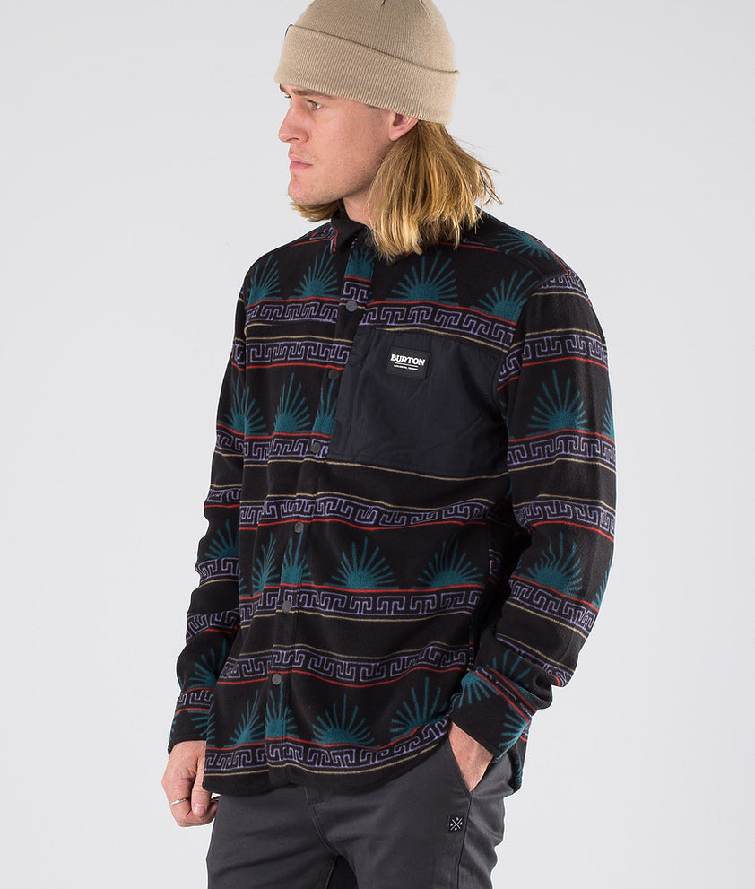 Burton Hearth Fleece Skjorte Spurwink/True Black