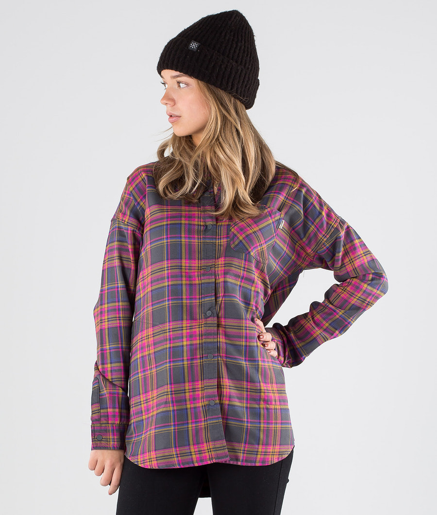 Burton Grace Tech Flanel Shirt Iron Marcy Pld