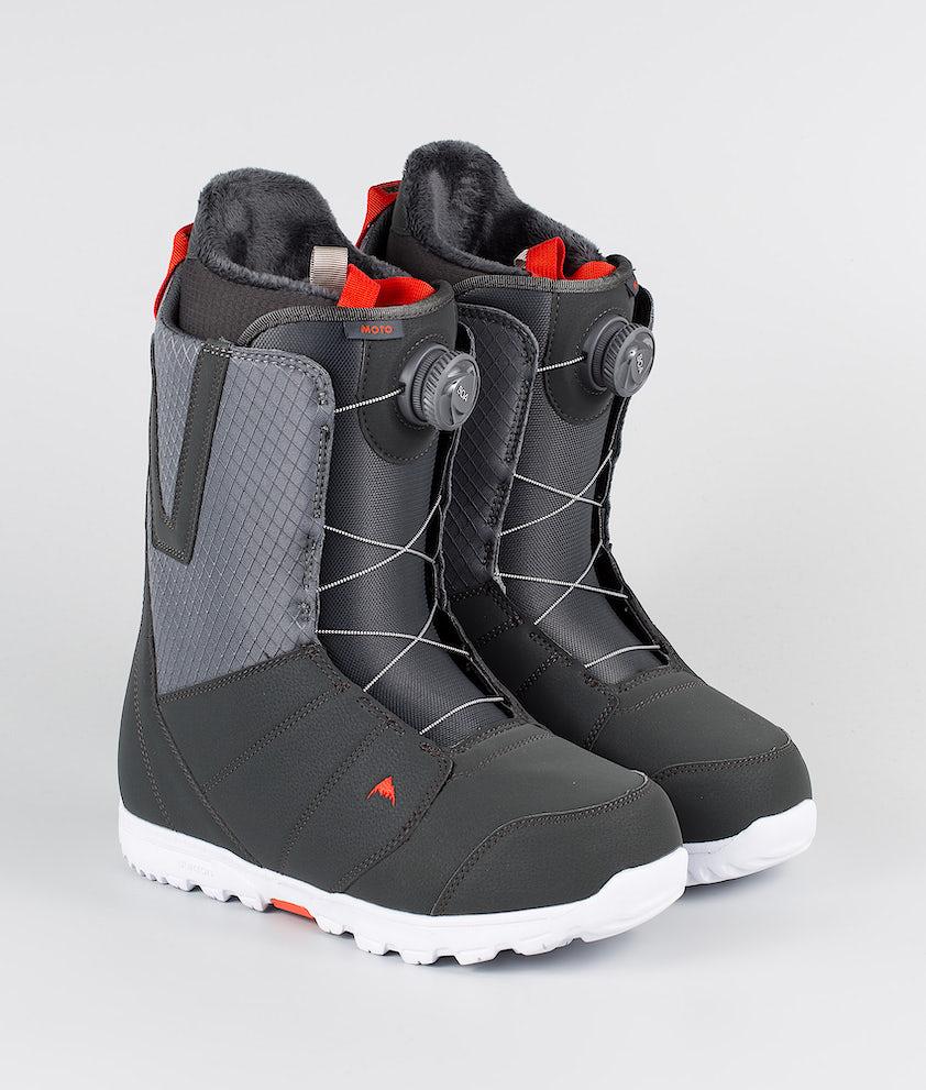 Burton Moto Boa Snowboard Boots Gray/Red