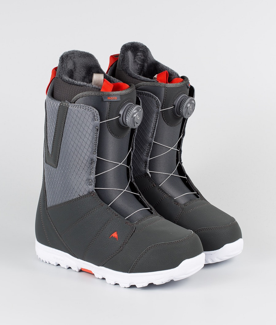 Burton Moto Boa Boots Gray/Red
