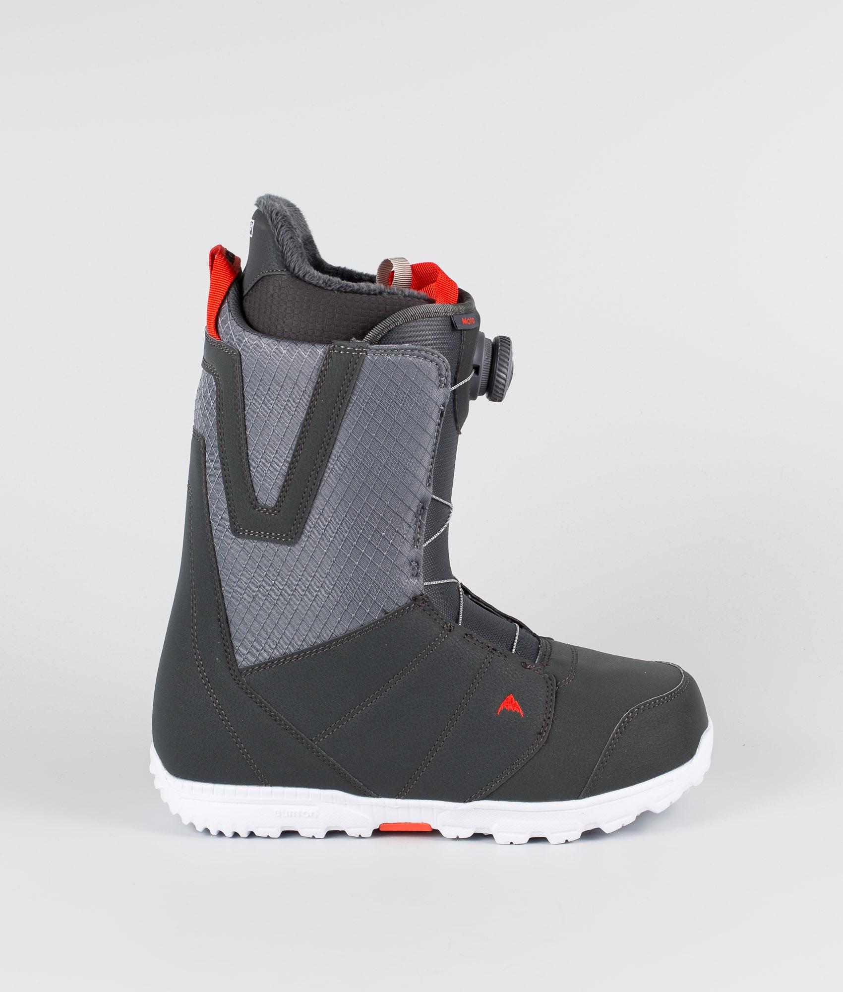 Burton Moto BOA Mens Snowboard Boots Sz 11.5 Gray//Red