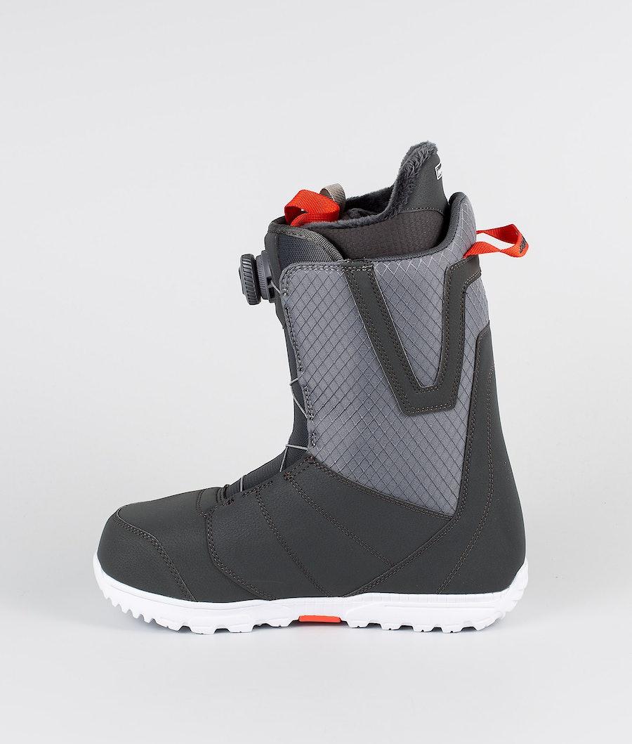 Burton Moto Boa Boots Gray/Red