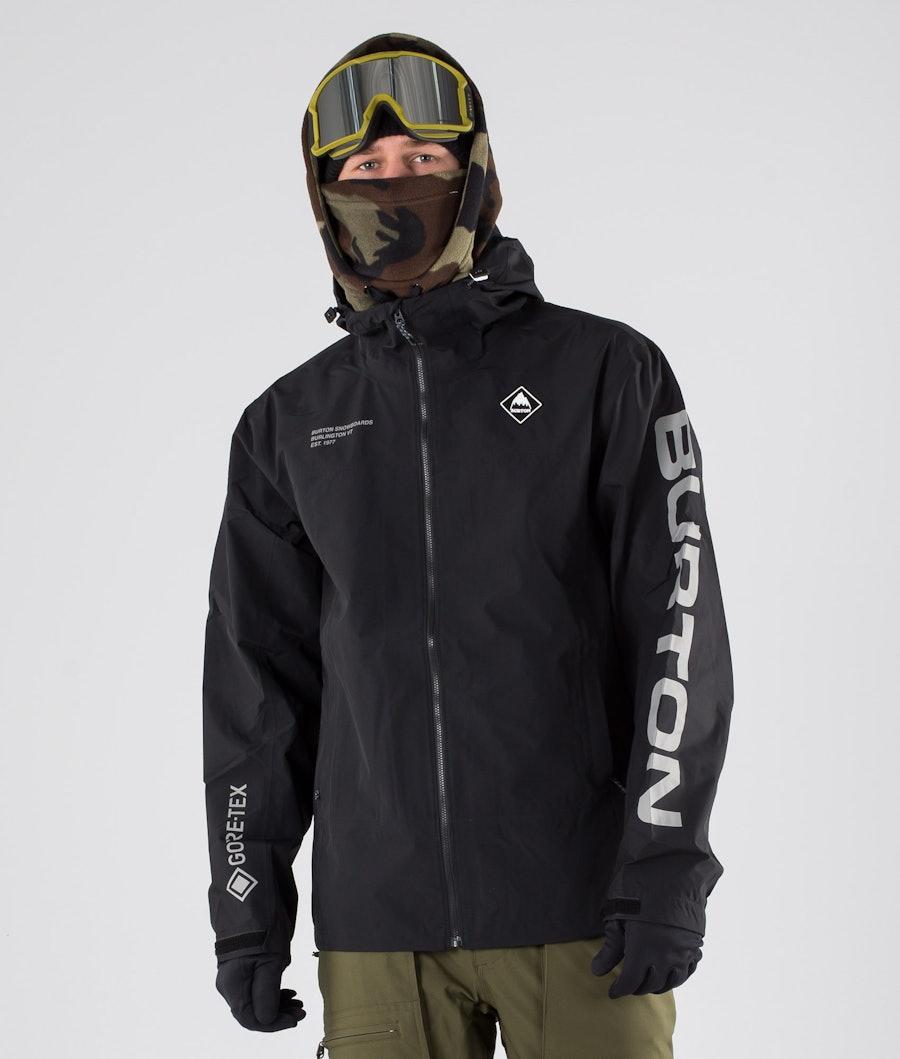 Burton Gore Tex Packrite Slim Giacca da snowboard True Black