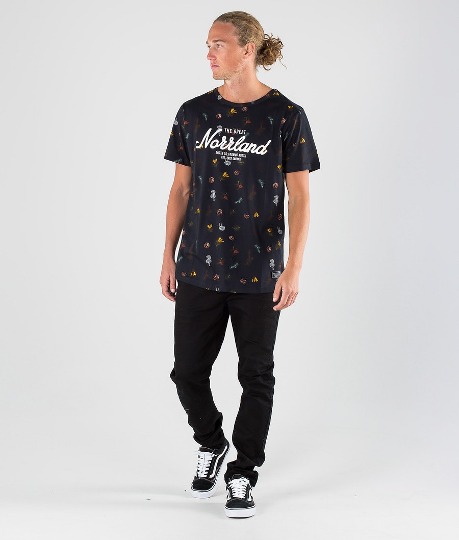 SQRTN Great Norrland T-shirt Branch Black